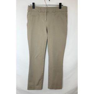 CANDIE'S Audrey Ankle Light Tan Straight Leg Pants